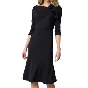 DIANE VON FURSTENBURG Black Wool Slater Dress